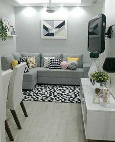 Decorar casa - Best Home Idea Fancy Living Rooms, Classy Living Room, Living Room Grey, Home Living Room, Living Room Decor, Bedroom Decor, Home Room Design, Home Interior Design, Living Room Designs