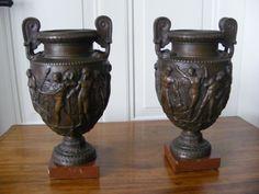 Gr. Vasen Paar, Empire Biedermeier, Grand Tour, Rom Italien Bronze 19. Jhdt.   Antiquitäten & Kunst, Metallobjekte, Bronze   eBay!