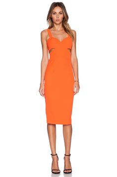 Minty Meets Munt Game of Love Dress in Tangerine