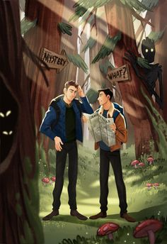 Unsolved and gravity falls crossover Gravity Falls, Buzzfeed Funny, Wubba Lubba, Try Guys, Ghost Boy, Fandom Crossover, Fanart, Ghost Hunters, Mothman