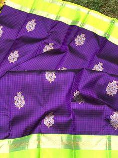 Kalpavruksh, mohiddin estate, near railway reservation counter, bandar road. Saree Blouse, Sari, Kanjivaram Sarees Silk, Wedding Saree Collection, Saree Wedding, Indian Sarees, Color Combinations, Weaving, Blouses