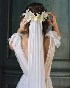 Liv Hart Collection // A delicate and sweet veil, with ethereal flowers.