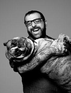 Antonio and Chewey for an #bulldogHGTV dinner party. #dogs #celebs