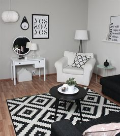 Monochrome magic | Magdaleena's living room in Finland | IKEA FAMILY LIVE