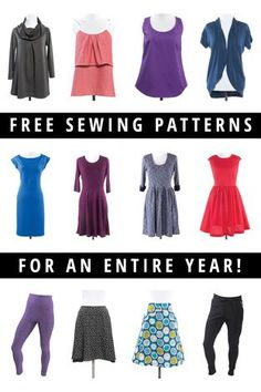 Please don't enter this contest so I have a better chance of winning.  ;) Giveaway: Year of Free Sewing Patterns | Enter at Indiesew.com