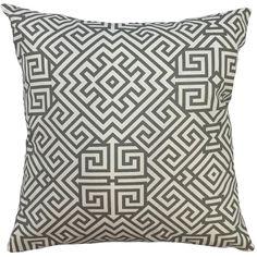 Jomeaux Geometric Pillow Grey
