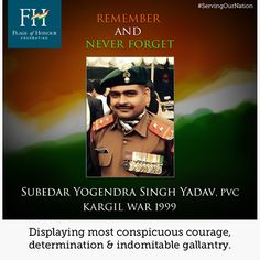 Today is the birthday of Grenadier Yogendra Singh Yadav, PVC and with immense pride and honour, we wish this mighty soldier. He belongs to the 18 Grenadiers and was part of the Commando 'Ghatak' Platoon that was tasked to capture three strategic bunkers on Tiger Hills during the Kargil War.