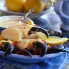 Stone Crab Claws with Mustard Sauce - One of my favorites!