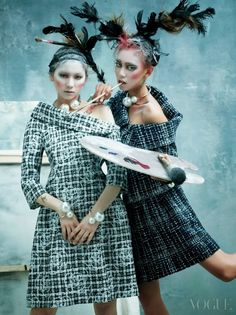 """Duchess Dior: """"Art Factory"""" Models in Chanel by Kim Bo Sung for Vogue Korea 2014"""