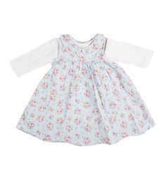Mini Club Baby Girls Cord Dress Blue