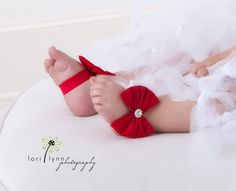 Ruby - Red Baby Shoes - Barefoot Sandals -Valentines Day Shoes