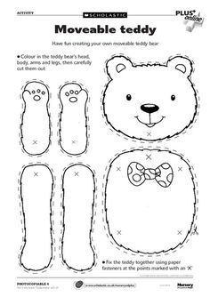 Use for teddy bear/hibernation day. teddy bear picnic- Free from Scholastic Teddy Bear Crafts, Teddy Bear Day, Teddy Bear Themes, Polar Bear, Early Years Teaching, Goldilocks And The Three Bears, Bear Party, Preschool Activities, Bear Crafts Preschool