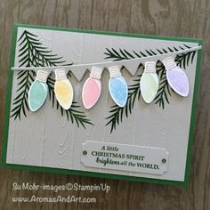 Aromas and Art - Su Mohr, Independent Stampin' Up! Demonstrator, and Independent Young Living Distributor Stampin Up Christmas, Christmas Cards To Make, Christmas Makes, Little Christmas, Xmas Cards, Handmade Christmas, Christmas Holidays, Christmas Crafts, Christmas Star