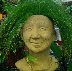 Solid MONK HEAD PLANTER Original Copyrighted by dsgardenshop, $135.00