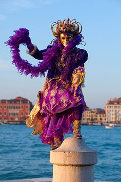 Carnivale mask & costume ~ 16878 - ID: 9793185 © Jim  Zuckerman