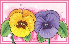 How to Draw Pansies, Step by Step, Flowers, Pop Culture, FREE Online Drawing Tutorial, Added by Dawn, September 12, 2010, 12:56:10 pm
