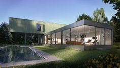 Architectural Visualisation, CGI, Pool House, #V-ray #3DSMax,
