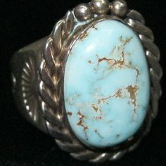 NAVAJO Signed TG, Sterling Silver Ring from indianqueen on
