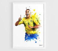 Ronaldo Brazil national football team World Cup 2002 A3 Wall