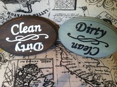 Clean/Dirty Dishwasher Sign by CountryHomemakers on Etsy https://www.etsy.com/listing/161277293/cleandirty-dishwasher-sign
