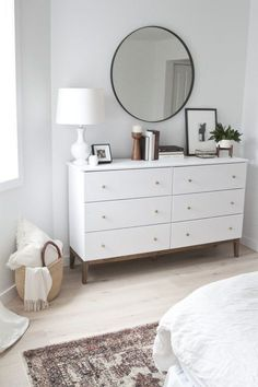 I really like this design. I love the light colors because it makes the room look bigger and lighter, rather than using dark colors that make the room look small and dark.