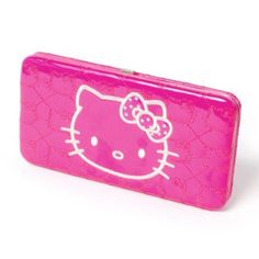 Hello Kitty Quilted Hardcase Wallet!! i would kill for this! lol