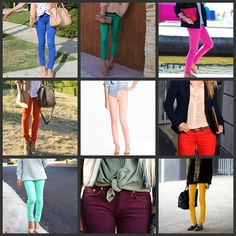 """just for you Jen A - a look at some colored skinny jeans... """"she's older than me!...I'm wearing them!"""""""