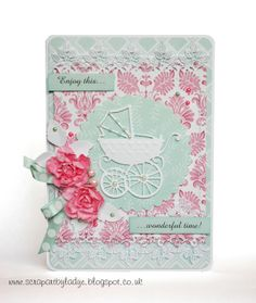card for maternity leave, marianne buggy Baby Cards, Wonderful Time, Projects To Try, Card Making, Maternity, Shabby, Greeting Cards, Paper Crafts, Leaves
