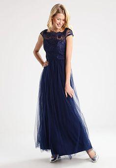 Chi Chi London KIRA - Suknia balowa - navy za 419 zł zamów bezpłatnie na Zalando. Chi Chi, Nice Dresses, Formal Dresses, London, Sexy Lingerie, Chiffon, Navy, Wedding, Outfits