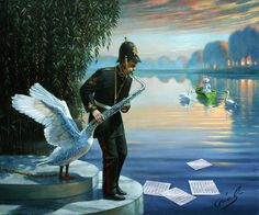 Swansophone Elegy by Michael Cheval