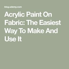 Acrylic Paint On Fabric: The Easiest Way To Make And Use It - Home: Living color Acrylic Paint On Fabric, Acrylic Craft Paint, Fabric Painting, Diy Painting, Paint Fabric, Tole Painting, Painting Furniture, Acrylic Paintings, Fabric Art