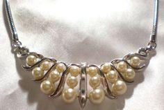 Crown Trifari pearl choker necklace by Ladysprettys on Etsy, $22.99