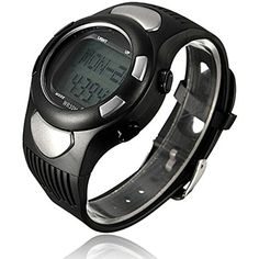 New Sports Fitness Watch Pedometer Pulse Heart Rate Calories Monitor -Color Silver ** Read more at the image link. (This is an affiliate link) #HealthMonitors