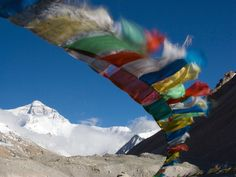 Photo: Tibetan prayer flags near Mount Everest