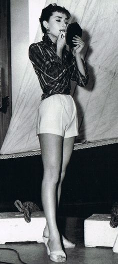 Love the high waisted shorts. Have to be careful though. May make you look like you don't have a butt if you really don't.