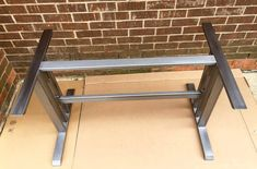 Design Dining Table Base Sturdy And Heavy by MetalAndWoodDesign