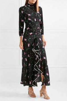 72ce4fe13204 RIXO - Gabriele ruffled floral-print silk crepe de chine maxi dress