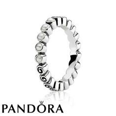 Pandora Silver Ring with Pearl