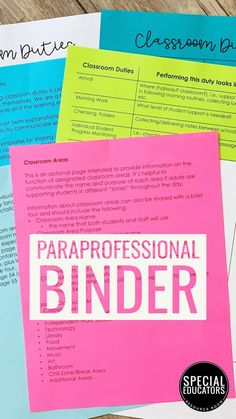 Paraprofessional Training Binder full of ready-to-go printables PLUS guidance and tips on supporting staff in your classroom. Here's to your most successful school year yet!