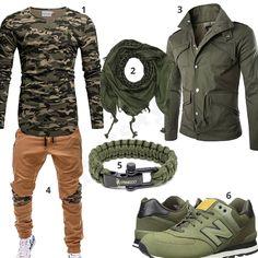 Street-Style für Herren mit Camouflage Longsleeve und Jogginghose (m0932) #longsleeve #jogginghose #halstuch #paracord #outfit #style #herrenmode #männermode #fashion #menswear #herren #männer #mode #menstyle #mensfashion #menswear #inspiration #cloth #ootd #herrenoutfit #männeroutfit