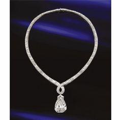 Important diamond pendant-necklace, Reza, Paris - Sotheby's