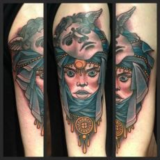09afebf99aec1 8 Best Neo Traditional Tattoos images in 2018 | Cloak, dagger tattoo ...