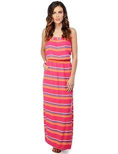 Strapless Splendid Maxi Dress #earnyourstripes