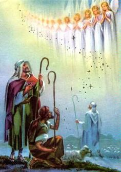 """Luke 2:11-14  because there was born to YOU today a Savior, who is Christ [the] Lord, in David's city. And this is a sign for YOU: YOU will find an infant bound in cloth bands and lying in a manger."""" And suddenly there came to be with the angel a multitude of the heavenly army, praising God and saying: """"Glory in the heights above to God, and upon earth peace among men of goodwill."""""""