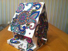 Handpainted wooden birdhouse by NotSoPlainJaynes on Etsy, $70.00