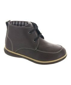 Look what I found on #zulily! Brown Lace-Up Chukka Boot by Rugged Bear #zulilyfinds