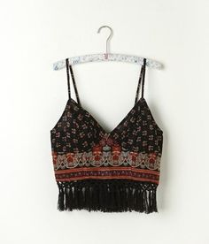 Free People FP ONE Along the Fringe Bralette from Free People. Saved to clothes. Hippie Style, Mode Hippie, Hippie Look, Look Boho, Bohemian Style, Boho Chic, Fashion Mode, Look Fashion, Fashion Black