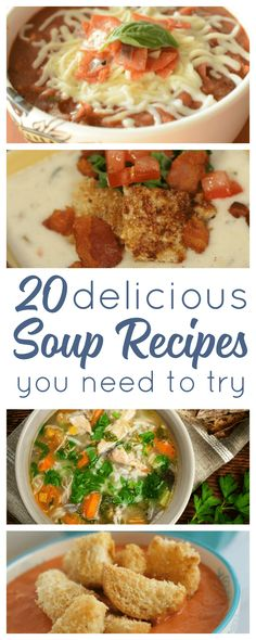 Comfort Food at its finest. These 20 soup recipes are simple, yet wonderfully delicious. Fill their stomachs while soothing their souls, soup is the perfect family meal. An easy dinner solution for busy families.