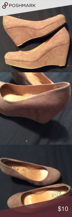 A.N.A Heels Great shoe. Gently worn a handful of times as pictured. Any questions. Please ask. a.n.a Shoes Wedges
