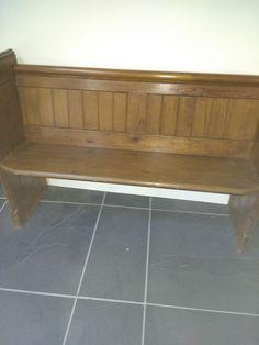 church pew bench  | eBay Church Pew Bench, Entryway Tables, Tile Floor, Furniture, Ebay, Home Decor, Homemade Home Decor, Home Furnishings, Decoration Home